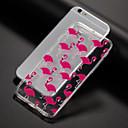 olcso iPhone tokok-Case Kompatibilitás Apple iPhone X / iPhone 8 / iPhone 7 Minta Fekete tok Flamingó Puha TPU mert iPhone XS / iPhone XR / iPhone XS Max