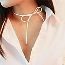 hesapli Kulak Kıkırdağı Piercingleri-Kadın's Gerdanlıklar - Kurdeleli Tatlı Sevimli Beyaz, Kahverengi Kolyeler Mücevher Uyumluluk Günlük, Okul