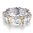 ieftine Inele-Pentru femei Zirconiu Cubic Band Ring Eternity Ring Zirconiu Argintiu Picătură Vintage De Bază Modă Inele la Modă Bijuterii Argintiu Pentru Nuntă Logodnă 6 / 7 / 8 / 9 / 10