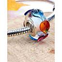 preiswerte Armbänder-DIY Schmuck 1 Stück Glasperlen Glas Aleación Silber Kreisförmig Korn 0.2 cm DIY Modische Halsketten Armbänder