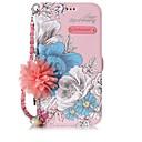 baratos Capinhas para iPhone-Capinha Para Apple iPhone X iPhone 8 Porta-Cartão Com Suporte Flip Estampada Faça Você Mesmo Capa Proteção Completa Palavra / Frase Flor