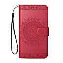 رخيصةأون أغطية أيفون-غطاء من أجل Apple iPhone X / iPhone 8 Plus / iPhone 8 قلب / نموذج غطاء كامل للجسم زهور قاسي جلد PU
