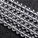 hesapli Boncuklar-DIY Mücevherat 46 adet Koraliki Kristal Beyaz Yuvarlak boncuk 0.8 cm DIY Kolyeler Bilezikler