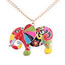 cheap Brooches-Women's Pendant Necklace - Elephant European, Fashion, Colorful Gold Necklace Jewelry For Daily