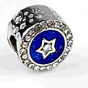 hesapli Boncuklar-DIY Mücevherat 1 adet Koraliki Simüle Elmas alaşım Navy Mavi Yuvarlak boncuk 0.5 cm DIY Kolyeler Bilezikler