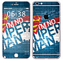 hesapli iPhone Stickerları-1 parça Deri Etiket için Çizilmeye Dayanıklı Lolita Tema PVC iPhone 6s Plus / 6 Plus