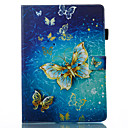 cheap iPad  Cases / Covers-Case For Apple iPad Pro 10.5 / iPad (2017) Wallet / with Stand / Flip Full Body Cases Butterfly Hard PU Leather for iPad Air / iPad 4/3/2 / iPad Pro 10.5