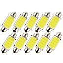 رخيصةأون مصابيح إشارات السيارات-10pcs 36mm سيارة لمبات الضوء 1 W COB 12 LED ضوء نمرة السيارة / ضوء العمل / أضواء الداخلية من أجل عالمي المحركات العامة كل السنوات