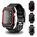 voordelige Apple Watch-bandjes-Horlogeband voor Apple Watch Series 4/3/2/1 Apple Moderne gesp Silicone Polsband