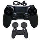 hesapli PS2 Aksesuarları-for PS4 Kablosuz / Bluetooth 3.0 Oyun Kontrol Üniteleri Uyumluluk PS4 ,  Şarj Aleti ile birlikte / Oyun Kolu / Kablosuz Flaş Kontrolü Oyun Kontrol Üniteleri Silikon / ABS 1 pcs birim