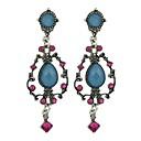 저렴한 귀걸이-여성용 드랍 귀걸이 - 모조 전기석 꽃장식 패션 블루 제품 일상 데이트