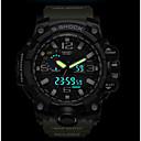 Недорогие Часы на металлическом ремешке-SMAEL Муж. Спортивные часы Армейские часы электронные часы Японский силиконовый Черный / Красный / Оранжевый 50 m Защита от влаги Календарь Секундомер Аналого-цифровые На каждый день Мода -
