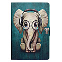 cheap Galaxy J Series Cases / Covers-Case For Samsung Galaxy Tab A 8.0 Card Holder / with Stand / Flip Full Body Cases Elephant Hard PU Leather for Tab A 8.0