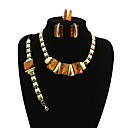 cheap Earrings-Women's Jewelry Set - Statement, Vintage, Oversized Include Bracelet Bangles Stud Earrings Chain Necklace Gold For Party Formal / Statement Ring