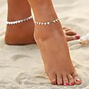 hesapli Vücut Takıları-Geometrik Ayak bileziği - Bohem, Moda, Boho Altın / Gümüş Uyumluluk Dışarı Çıkma Bikini Kadın's