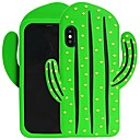 abordables Coques d'iPhone-Coque Pour Apple iPhone X Motif Coque Plantes / Dessin Animé 3D Flexible Silicone pour iPhone X