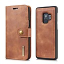 cheap Galaxy S Series Cases / Covers-Case For Samsung Galaxy S9 Plus / S9 Wallet / Card Holder / Flip Full Body Cases Solid Colored Hard Genuine Leather for S9 / S9 Plus / S8 Plus
