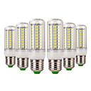 povoljno LED klipaste žarulje-YWXLIGHT® 6kom 7 W 600-700 lm E14 / E26 / E27 LED klipaste žarulje 72 LED zrnca SMD 5730 Ukrasno Toplo bijelo / Hladno bijelo 220-240 V