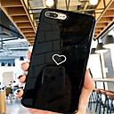 olcso iPhone tokok-Case Kompatibilitás Apple iPhone X / iPhone 7 Plus Minta Fekete tok Szív Puha TPU mert iPhone X / iPhone 8 Plus / iPhone 8
