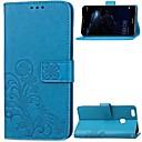 abordables Vêtements & Accessoires pour Chien-Coque Pour Huawei P10 Plus / P10 Lite Portefeuille / Porte Carte / Clapet Coque Intégrale Fleur Dur Cuir véritable pour P10 Plus / P10 Lite / P10