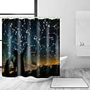 cheap Home Decoration-Shower Curtains & Hooks Contemporary Modern Polyester Contemporary Novelty Machine Made Waterproof Bathroom