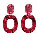 levne Náušnice-Dámské Visací náušnice Náušnice - Kruhy Náušnice dámy Evropský Šperky Červená / Růžová / Světle kávová Pro Denní Formální
