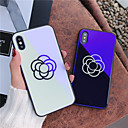 cheap iPhone Cases-Case For Apple iPhone X / iPhone 8 Pattern Back Cover Flower Hard Tempered Glass for iPhone X / iPhone 8 Plus / iPhone 8