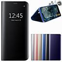저렴한 갤럭시 J 시리즈 케이스 / 커버-케이스 제품 Samsung Galaxy A8 Plus 2018 / A8 2018 스탠드 / 거울 전체 바디 케이스 솔리드 하드 PU 가죽 용 A3 (2017) / A5 (2017) / A7 (2017)