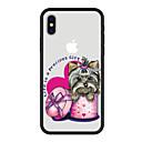 Недорогие Кейсы для iPhone-Кейс для Назначение Apple iPhone X / iPhone 8 Plus С узором Кейс на заднюю панель С собакой / Животное / Мультипликация Твердый Акрил для iPhone X / iPhone 8 Pluss / iPhone 8