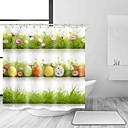 hesapli Banyo Gereçleri-Shower Curtains & Hooks Günlük Ülke Polyester Çağdaş Yenilik Makine Yapımı Su Geçirmez Banyo
