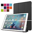 hesapli MacBook Kılıfları, Çantaları ve  Kapları-Pouzdro Uyumluluk iPad Air 2 Satandlı Oto Uyu / Uyan Origami Tam Kaplama Kılıf Tek Renk PU Deri için iPad 9.7 (2017)