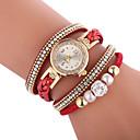 billige Dameklokker-Dame Moteklokke Diamond Watch bryte ur Quartz Quiltet kunstlær Svart / Hvit / Blå Hverdagsklokke Analog damer Bohemsk Mote - Grønn Blå Rosa