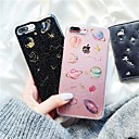olcso iPhone tokok-Case Kompatibilitás Apple iPhone X / iPhone 7 IMD / átlátszó Body Fekete tok Mértani formák Puha TPU mert iPhone X / iPhone 8 Plus / iPhone 8