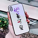 رخيصةأون أغطية أيفون-غطاء من أجل Apple iPhone X / iPhone 8 Plus / iPhone 8 نموذج غطاء خلفي جملة / كلمة قاسي زجاج مقوى