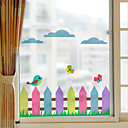 hesapli Pencere Malzmeleri-Pencere Filmi ve Çıkartma Dekorasyon mat / Çağdaş 3D Baskı PVC Pencere Çıkartması / Mat