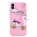 cheap iPhone Cases-Case For Apple iPhone X / iPhone 8 Shockproof / Pattern / DIY Back Cover Unicorn Soft TPU for iPhone X / iPhone 8 Plus / iPhone 8