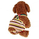 cheap Dog Clothing & Accessories-Pets Jumpsuit Dog Clothes Stripes Princess Rainbow Padded Fabric Costume For Japanese Spitz Shiba Inu Schnauzer Spring, Fall, Winter, Summer Male Sports & Outdoors Dresses&Skirts