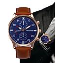 baratos Relógios Masculinos-Homens Relógio Elegante Chinês Cronógrafo Couro Banda Fashion / Minimalista Preta / Azul / Marrom / SSUO LR626