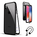 abordables Coques d'iPhone-Coque Pour Apple iPhone 8 / iPhone 8 Plus / iPhone XS Clapet / Transparente Coque Intégrale Couleur Pleine Dur Verre Trempé pour iPhone XS / iPhone XR / iPhone XS Max