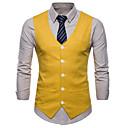 رخيصةأون قمصان رجالي-رجالي أبيض أسود أصفر XXL XXXL XXXXL Vest قياس كبير الأعمال التجارية / أساسي لون سادة V رقبة نحيل / بدون كم / الصيف / عمل / نصف رسمي