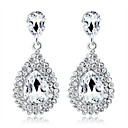 cheap Makeup & Nail Care-Crystal Pear Cut Chandelier Drop Earrings Earrings Drop Ladies Fashion Elegant Bridal Bling Bling Jewelry Silver For Wedding Party / Evening