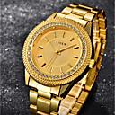 preiswerte Damenuhren-Damen Armbanduhr Quartz 30 m Cool Imitation Diamant Edelstahl Band Analog Luxus Freizeit Gold - Weiß Schwarz Blau Ein Jahr Batterielebensdauer / SSUO SR626SW