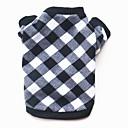 tanie Odzież dla kota-Psy Koty Zwierzęta domowe Bluza dresowa Ubrania dla psów Plaid / Sprawdź Kreskówki Bawełna Kostium Na Corgi Beagle Shiba inu Zima Mężczyzna Codzienne Zatrzymujący ciepło