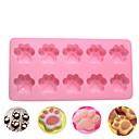 ieftine Ustensile & Gadget-uri de Copt-10 găuri pisică pisică gheare silicon tort mucegai diy decorare ciocolată