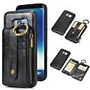 ieftine Accesorii-Maska Pentru Samsung Galaxy S9 / S9 Plus / S8 Plus Portofel / Titluar Card / Cu Stand Carcasă Telefon Mată Greu Piele autentică