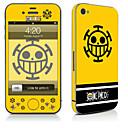 hesapli iPhone Stickerları-1 parça Deri Etiket için Çizilmeye Dayanıklı Karton Tema PVC iPhone 4/4s