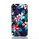 baratos Capinhas para iPhone-Capinha Para Apple iPhone X / iPhone 8 Estampada Capa traseira Flor Rígida PC para iPhone X / iPhone 8 Plus / iPhone 8
