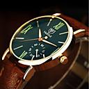 ieftine Accesorii Ceasuri-Bărbați Ceas Elegant Ceas de Mână Quartz Piele Maro 30 m Iluminat Analog Clasic Casual minimalist - Negru Albastru Verde Închis Un an Durată de Viaţă Baterie / Oțel inoxidabil / SSUO 377