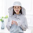 ieftine Cagule și măști pentru față-Καπέλο πεζοπορίας Pălării Ușor Rezistent la UV Respirabilitate Vară Albastru Roz Gri Pentru femei Pescuit Alpinism Voiaj Mată / Dantelă / Strech