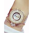ieftine Colier la Modă-Pentru femei Ceasuri de lux Ceas La Modă Simulat Diamant Ceas Quartz Oțel inoxidabil Argint / Auriu 50 m Cronograf Analog femei Lux Sclipici - Auriu Argintiu Doi ani Durată de Viaţă Baterie
